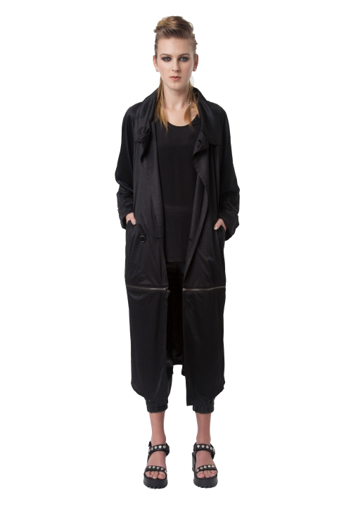38.R13 HOLY MAIDEN TRENCH FULL LENGTH-BLACK-RRP$420