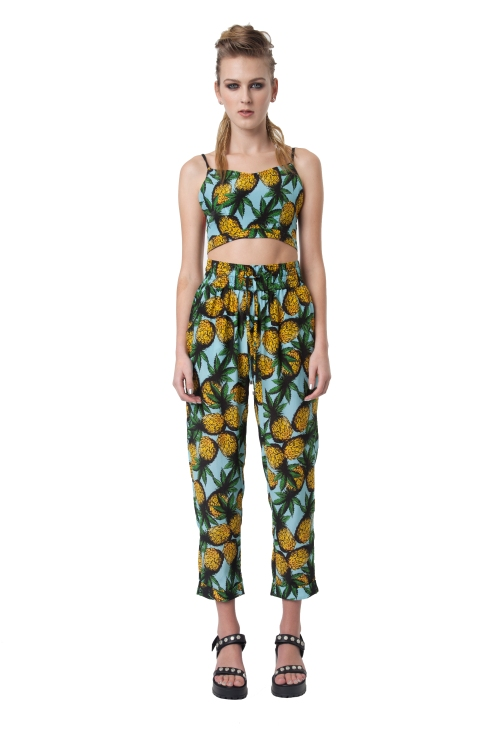 56.R13 ANTI SPORTS CAMI-PINEAPPLE PRINT-RRP$168