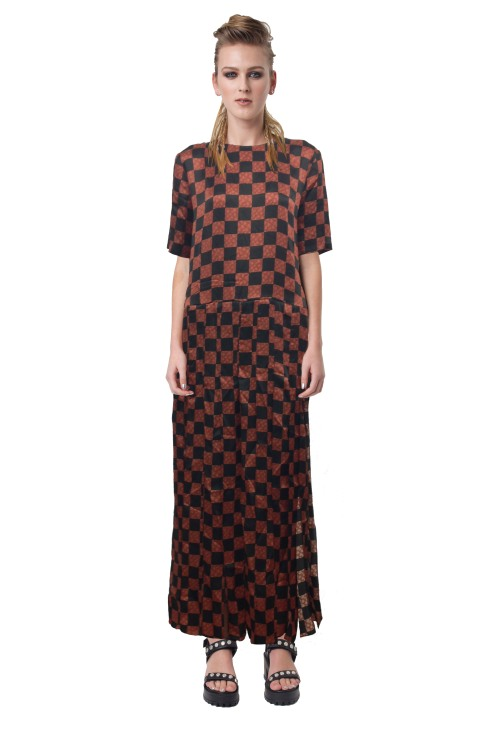9.R13 MOD DRESS -CHECKERBOARD-RRP$499